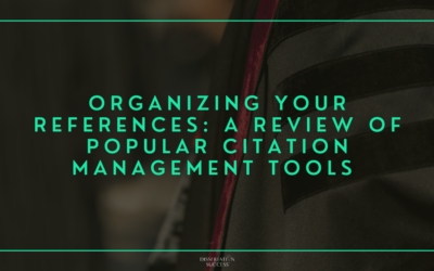 Organizing your References: A Review of Popular Citation Management Tools