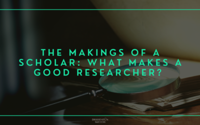 The Makings of a Scholar: What Makes a Good Researcher?