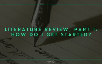 Literature Review, Part 1: How Do I Get Started?